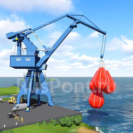 Контрольные груза для испытания кранов Груза для крана Современным решением данного вопроса является использование для подобных целей водоналивных испытательных грузов Контрольный груз для испытания кранов